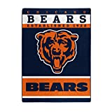 "The Northwest Company Officially Licensed NFL Chicago Bears 12th Man Plush Raschel Throw Blanket, 60"" x 80"""