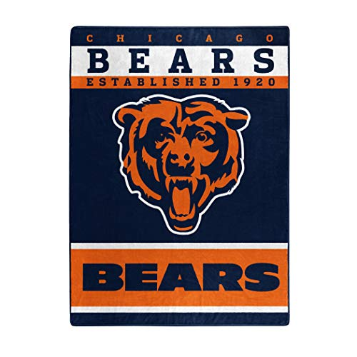 (The Northwest Company Officially Licensed NFL Chicago Bears 12th Man Plush Raschel Throw Blanket, 60