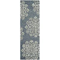 Safavieh Bella Collection BEL914A Blue Premium Wool & Viscose Runner (23 x 7)