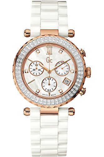 GUESS COLLECTION A22104M1,Ladies Quartz Chronograph,Dress Elegant,Sapphire Crystal,Screw Crown,100m WR