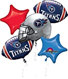 Anagram Bouquet Titans Foil Balloons, Multicolor