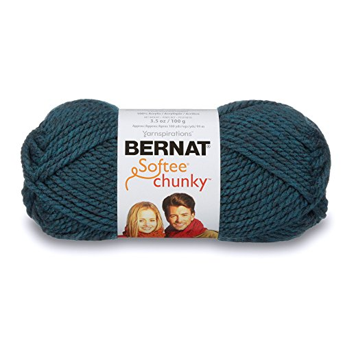 softee chunky yarn teal single ball