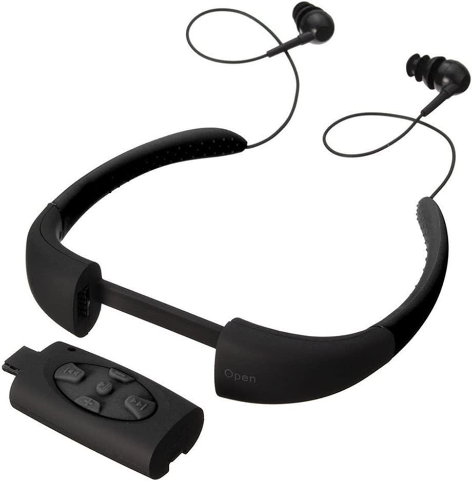 MP3 For Running,Waterproof MP3,Underwater MP3 Music Player,Earphone With FM Radio,Using For Swimming,Surfing And Diving Black