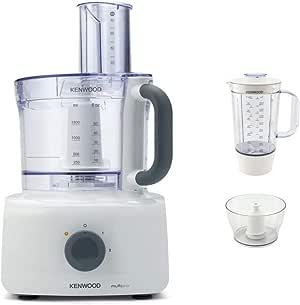 Kenwood Multipro Home FDP643WH 1000W 3L Gris, Blanco - Robot de cocina (3 L, Gris, Blanco, Giratorio, 1,5 L, CE, De plástico): Amazon.es: Hogar