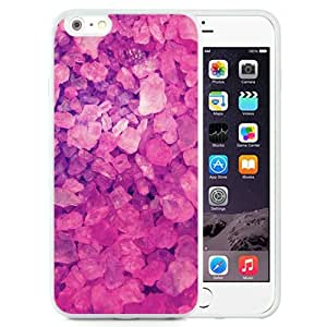 NEW Unique Custom Designed iPhone 6 Plus 5.5 Inch Phone Case With Pink Crystals Lockscreen_White Phone Case
