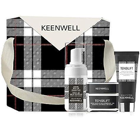 Keenwell, Pack Navidad Tensilift Crema Super Lifting Antiarrugas - Día 50ml + Crema Ultra-Lifting Efecto Masarilla Noche 50ml + Limpiador Miceral Enzimático 120ml +Ahas: Amazon.es: Belleza