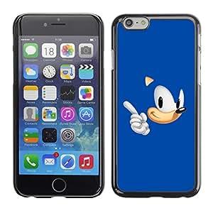TECHCASE**Cubierta de la caja de protección la piel dura para el ** Apple iPhone 6 ** Blue Hedgehog