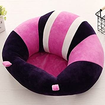 Infant Sitting Chair Washable Baby Support Seat Suitable 3-10 Months 5 Colors Optional,40 x 40 cm Blue Premium Soft Plush