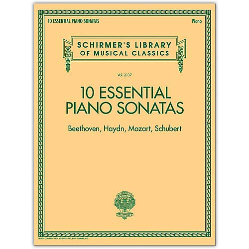 (10 Essential Piano Sonatas - Schirmer's Library Of Musical Classics (Beethoven, Haydn, Mozart, Schubert) Pack of 2)