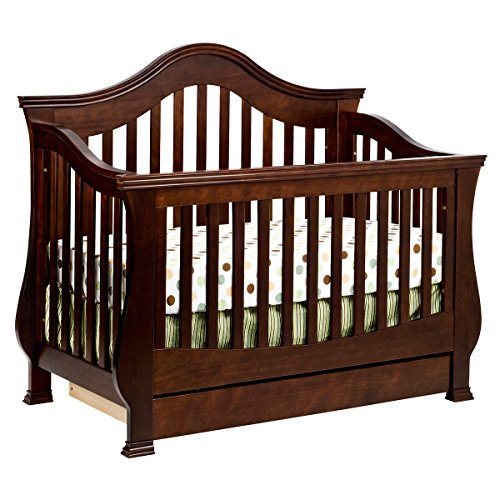 Full Size Conversion Kit Bed Rails for Million Dollar Baby Ashbury, Foothill & Louis Cribs - Espresso by Grow-with-Me Crib Conversion Kits (Image #3)