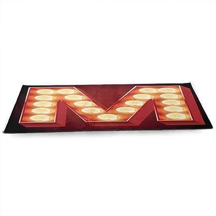 Amazon.com : Letter M Eco Friendly Yoga Mat Vintage Alphabet ...