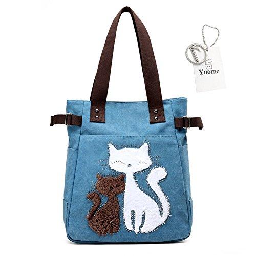 Yoohobo0007 à Coffee Femme Yoome Beige l'épaule Porter One café pour bleu à Sac Size dXIw5q