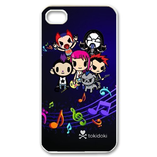 Fayruz- Tokidoki Protective Hard TPU Rubber Cover Case for iPhone 4 / 4S Phone Cases A-i4K158