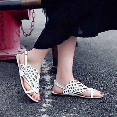 pwne Sandalias De Mujer Zapatos Formales Polipiel Primavera Verano Oficina Exterior &Amp; Carrera Visten Casual Talón Plano Plateado Oro Blanco Negro Plano Blanco Us6 / Ue36 / Uk4 / Cn36 US6 / EU36 / UK4 / CN36