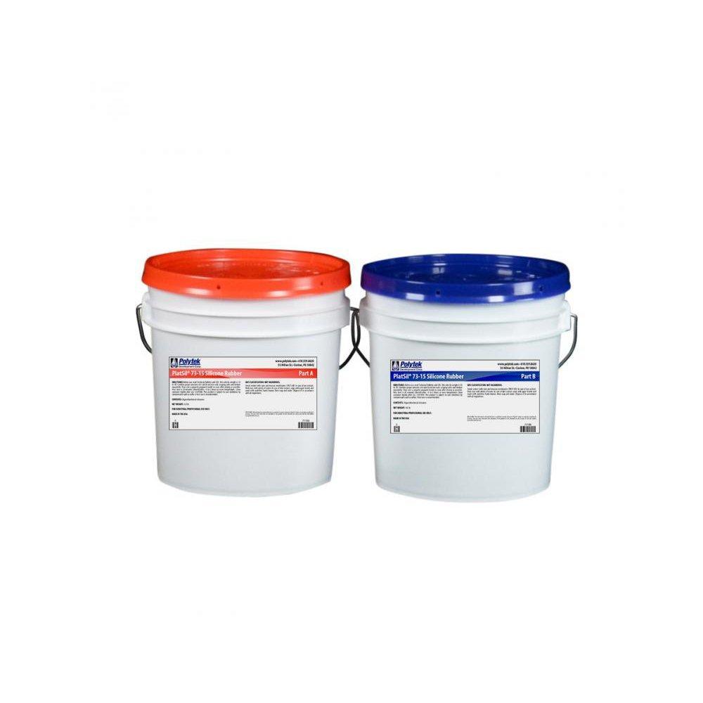 Polytek PlatSil73-15 Platinum Silicone Rubber (16lb Kit)