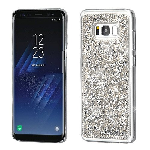 Galaxy S8 Plus Case, Mybat Crystal Hard Snap-in Case Cover with Diamond for Samsung Galaxy S8 Plus S8+, Silver from MYBAT