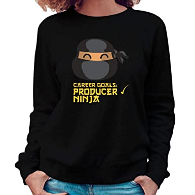 Amazon.com: Idakoos Career Goals Producer Ninja Face Women ...