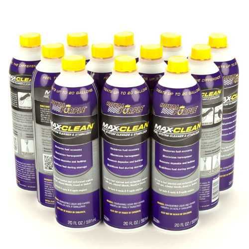 Royal Purple 11722-12PK Max-Clean Fuel System Cleaner and Stabilizer - 20 oz. Bottle, (Pack of 12) by Longacre Racing Products