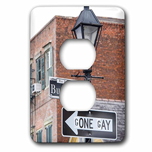Danita Delimont - New Orleans - US, LA, New Orleans, French Quarter. Traffic sign amended - Light Switch Covers - 2 plug outlet cover - New In Outlet Orleans