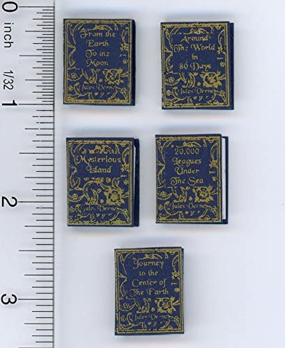 1:12 SCALE MINIATURE BOOK AROUND THE WORLD IN 80 DAYS JULES VERNE