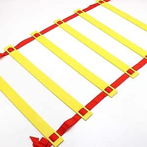 ZYHA Escalera de fútbol Escalera Entrenamiento Escalera,coordinacion, Escaleras Velocidad de fútbol Escalera de Agilidad con Bolsa para Llevar,Equipo de Entrenamiento de Velocidad para: Amazon.es: Hogar