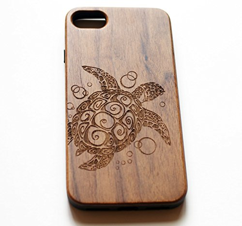 VIVIPOW Wood Phone Case Compatible iPhone 7 Case,Sea Turtle Phone Case Compatible iPhone 7 4.7 Inches 1 Unique Design:Pretty patten are carved in natural wood. Comfortable Design: nature wood and a high-quality plastic make for a comfortable and easy grip. Hybrid designed Case:3D TPU structure,Nature walnut wood at the back