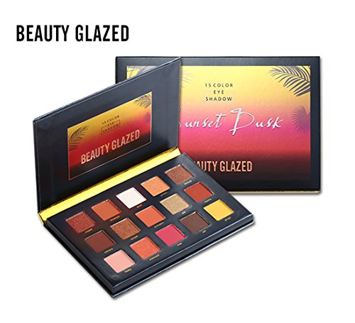 Beauty Glazed Sunset Dusk Eyeshadow Palette 15 Colors Long L