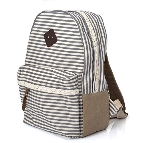 Bookbag Travel Bag Leather Vintage School Gift Shoulder Gym Koolertron College Backpacks Camera Canvas Dslr Tablet Daypack Portable Rucksack Pack Carry Grey Fashion Casual Campus Hiking Pc Unisex Case n60x0qwU8
