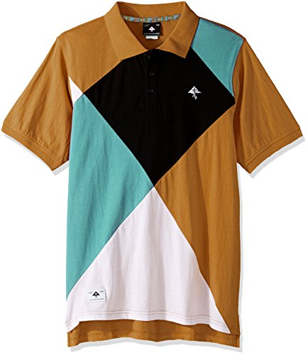 LRG Men's Big and Tall Argyle Dimentions Polo, Camel, 4XL