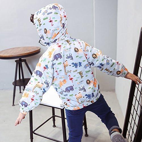 EZB Childrens Unisex Safari Animal Windbreaker Jacket
