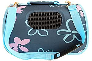 BPS (R) Portador Transportín Bolsa Bolso de Tela para Perro, Gato, Mascotas, Animales,Tamaño M,43.5x25x25cm (Azul) BPS-2121-2
