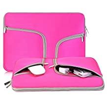 egiant 13.3 Inch Laptop Chromebook Case Sleeve ,Waterproof Neoprene Zipper Briefcase Carrying Cases Bag for Laptops Notebook Computers iPad Pro Tablets ,Surface Book, Macbook Air 13/Pro 13 (Rose Red)