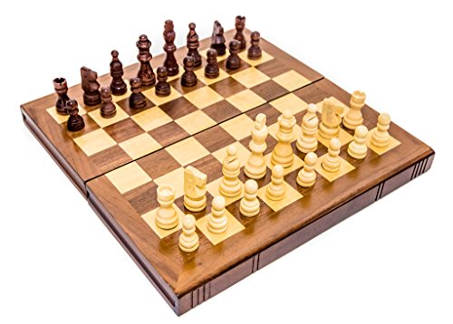 (Murray Hill Wooden Folding Staunton Chess Set)