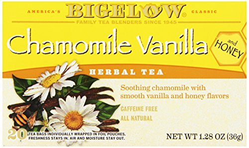 Bigelow Chamomile Vanilla Herbal Tea With Honey, 20 Count (Pack of 6)