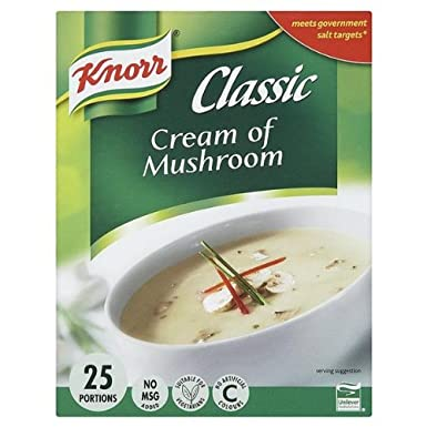 Knorr Classic Cream of Mushroom Soup Mix 25 PortionsAmazon.co.uk