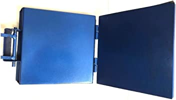 Made in Mexico Blue Manual Flower/Corn All Metal Tortilla Maker Press 12x12 inch Square