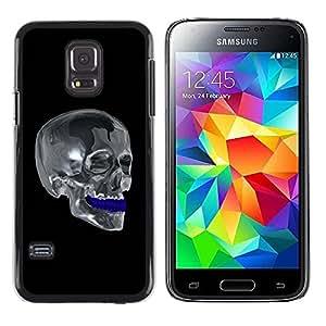 Be Good Phone Accessory // Dura Cáscara cubierta Protectora Caso Carcasa Funda de Protección para Samsung Galaxy S5 Mini, SM-G800, NOT S5 REGULAR! // Chrome Skull