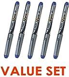 Pilot V Pen (Varsity) Disposable Fountain Pens, Blue Ink, Medium Point Value Set of 5(With Our Shop Original Product Description)