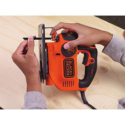 519OUwLMEcL - BLACK+DECKER BDEJS600C Smart Select Jig Saw, 5.0-Amp