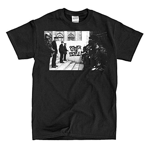 COP-Tshirt Black Panther (D3) Party vs Police Standoff - Black T-Shirt (Black Cops T-shirt)