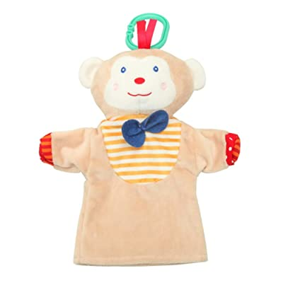LIZHIOO Marioneta Juguete de Peluche Lindo Animal de Peluche títere Mono / Rana / Pato estatuilla ( Color : Dark Khaki ): Juguetes y juegos