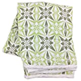 Bambino Land Double Layer Muslin Swaddling Blanket Geometric Green by (Made from Organic Cotton)
