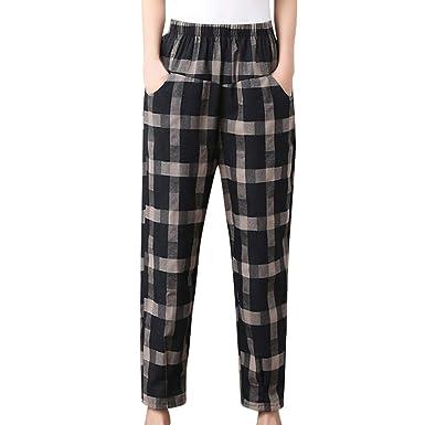 3a998c747857 ♬LILICAT Nouveau Pantalon de Sarouel en Vrac pour Femmes Pantalon de Taille  élastique Pantalon Mode