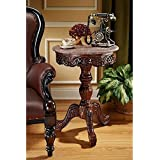 Design Toscano Chantret Marble Topped End Table
