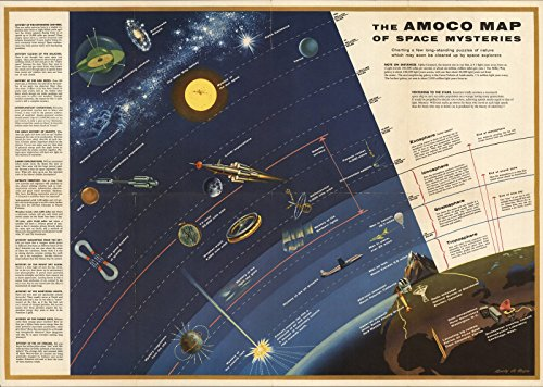 The AMOCO Map of Space Mysteries., 1958 | Historic Antique Vintage Map Reprint