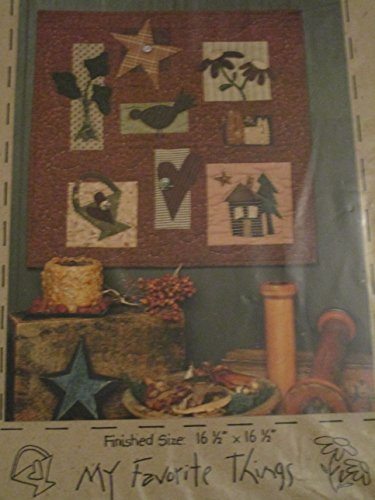 My Favorite Things Folk Art Sampler Wall Hanging Pattern (Sampler Whimsical)