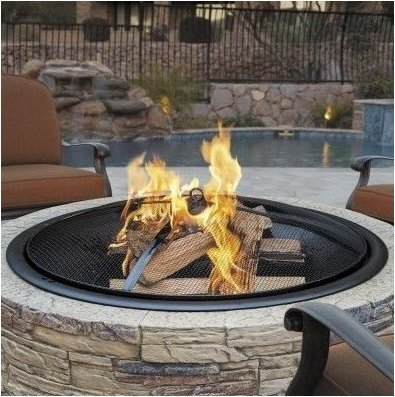 Large Fire Pit Outdoor Fireplace Wood Burning Cast Stone Bowl Yard Patio - Stone Bowl Cast