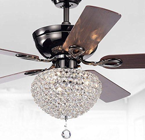 Sweety House 52″Ceiling Fan Crystal Chandelier Retro Drawstring Fan Chandelier Adjustable Fan Home Decoration Lighting Fan Chandelier Luxury crystal