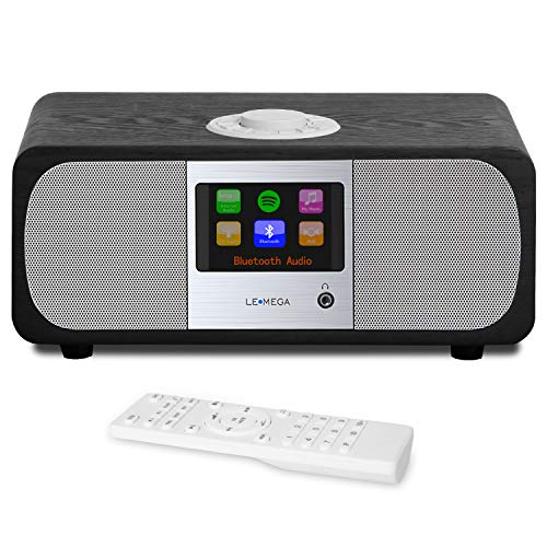LEMEGA M3+ Smart Music System with Wireless Internet Radio, FM Radio,  Bluetooth, Spotify, WiFi, 2 1 Channel Stereo Speaker, USB MP3,  Headphone-Out,