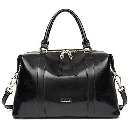 Ladies Black Satchel Purse - 3